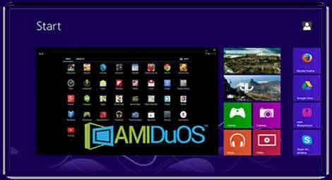 برنامج AMIDuOS محاكي اندرويد للكمبيوتر