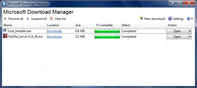 تحميل برنامج Microsoft Download Manager مجاناً