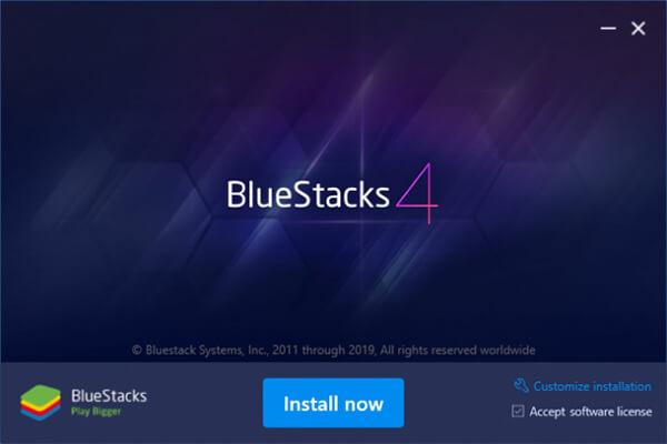 تثبيت BlueStacks علي الكمبيوتر